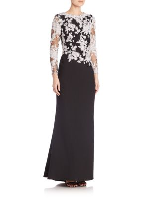 Fit & Flare Lace Gown