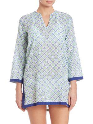 Border Barika Cotton Kurta Coverup plus size,  plus size fashion plus size appare