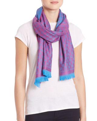gucci female new sten gg wool scarf