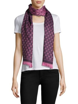GG Jacquard Wool Scarf