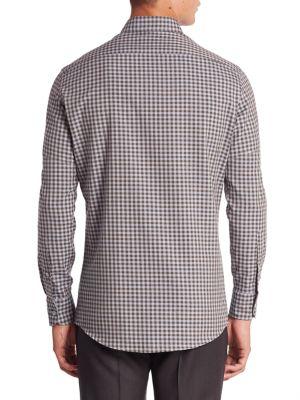 ERMENEGILDO ZEGNA Regular-Fit Cotton & Cashmere Shirt