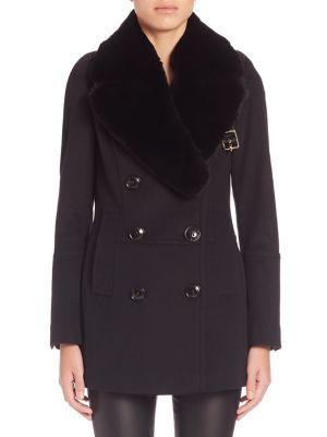 Fur-Collar Wool & Cashmere Marlfield Military Jacket