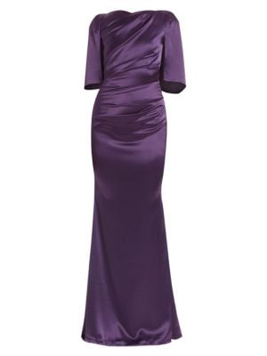 Ruched Satin Gown