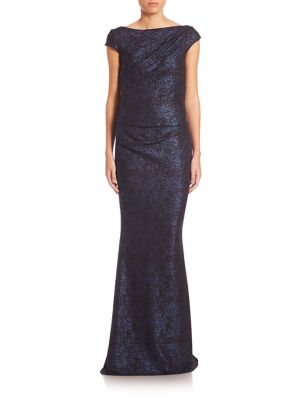 Jersey Boatneck Gown
