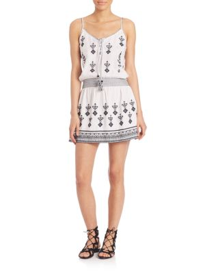 Buy Calypso St. Barth Ullman Embroidered Dropwaist Dress online with Australia wide shipping
