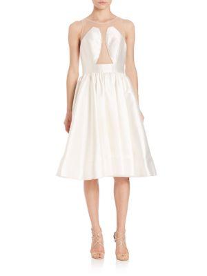 Sleeveless Illusion Cocktail Dress