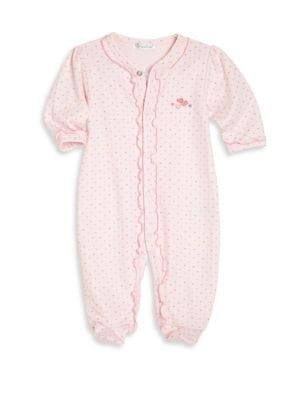 Baby's Pima Cotton Ruffled Footie