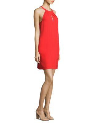 Tristyn Pleated Halter-Neck Dress
