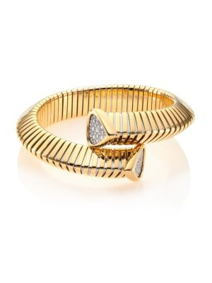 Trisola Diamond & 18K Yellow Gold Coil Bracelet