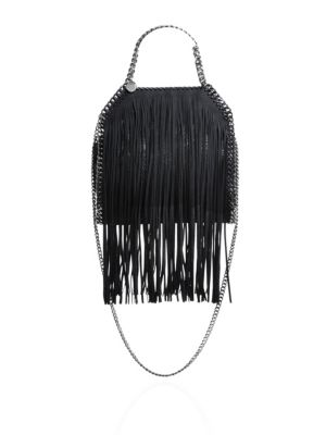Mini Baby Bella Fringed Faux-Suede Tote
