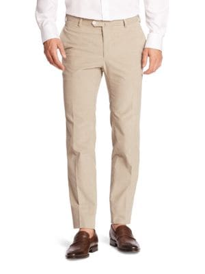 Regular-Fit Wool Pants