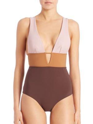One-Piece Chroma Sculpted Swimsuit plus size,  plus size fashion plus size appare