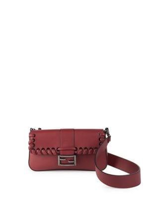 Lace-Up Leather Baguette