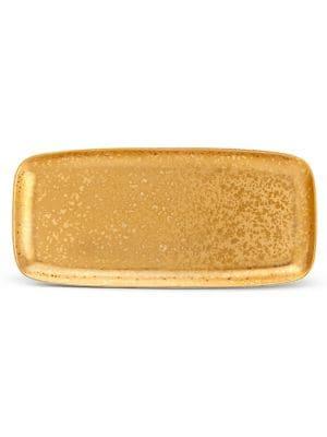 Alchimie 24K Gold Rectangular Platter