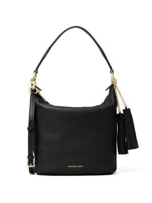 6b9ff7881769 Show Michael kors fulton chain black large leather shoulder bag ...