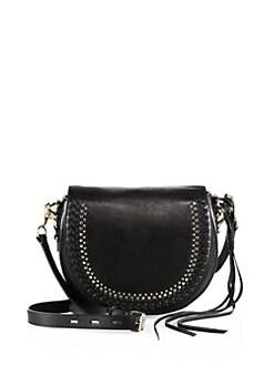 a84f9d31c5ef Rebecca Minkoff Astor Studded Leather Saddle Bag from Saks Fifth ...