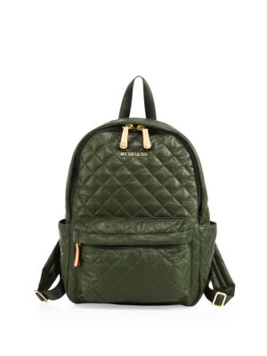mz wallace female 227429 oxford small metro quilted nylon backpack