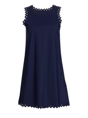 Zigzag Trimmed Roundneck Dress