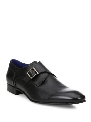 Saffiano Leather Monkstrap Shoes