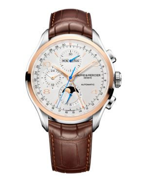 Clifton 10280 Chronograph and Complete Calendar Two-Tone and Alligator Strap Watch