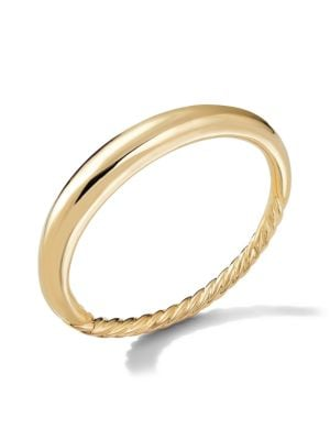 Pure Form Smooth Bracelet in 18K Yellow Gold/6.5mm