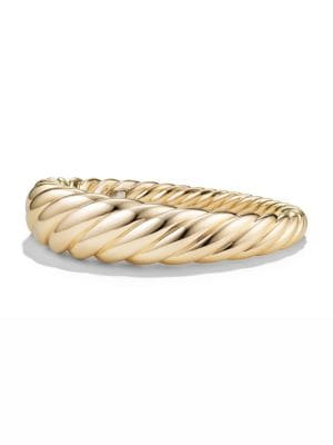 DAVID YURMAN | Pure Form Cable Bracelet In 18K Gold | Goxip