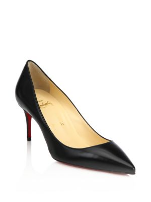 christian louboutin female decollete 70 leather pumps