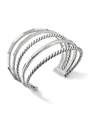 Stax Narrow Bracelet with Diamonds