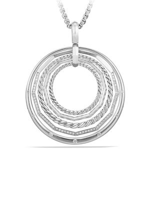 Stax Sterling Silver Pendant Necklace with Diamonds