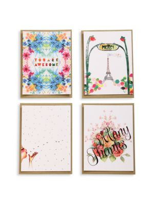 Eight-Piece Many Thanks Blank Greeting Cards Set