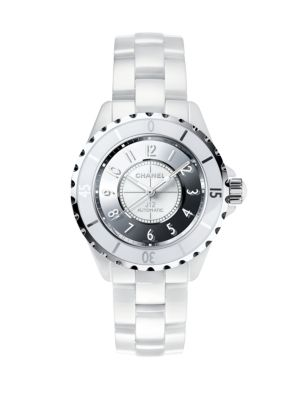 J12 Mirror Medium Ceramic & Stainless Steel Bracelet Watch