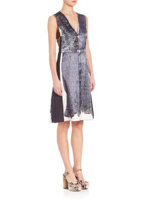 marc jacobs female 45883 sleeveless vneck dress