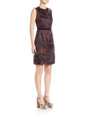 marc jacobs female 250960 floral jacquard dress