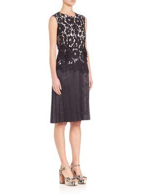 marc jacobs female 188971 sleeveless lace dress