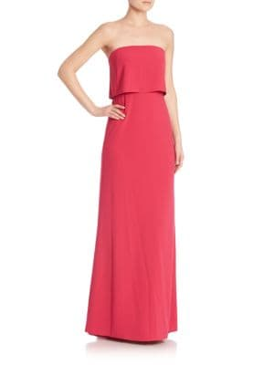 Strapless Popover Gown by Halston Heritage