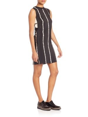 Striped Sleeveless Silk Dress
