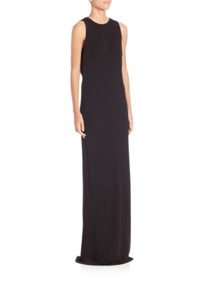 Sleeveless Jersey Tied Gown