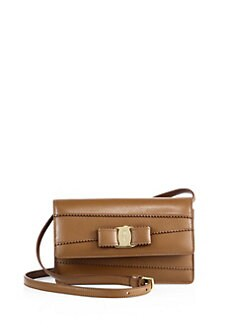 2a5481ec3f Salvatore Ferragamo Signature Scalloped Leather Crossbody