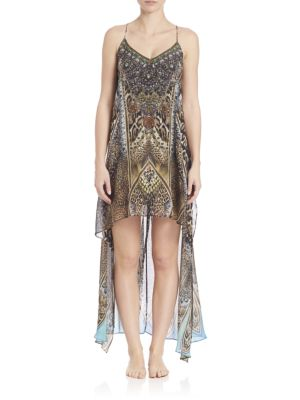 camilla female  printed silk hilo dress