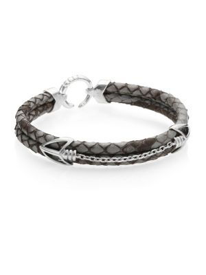 PythonHD Handcrafted High-End Braided Leather Bracelet