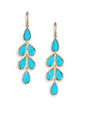 Rock Candy® Turquoise & 18K Yellow Gold Linear Cascade Earrings