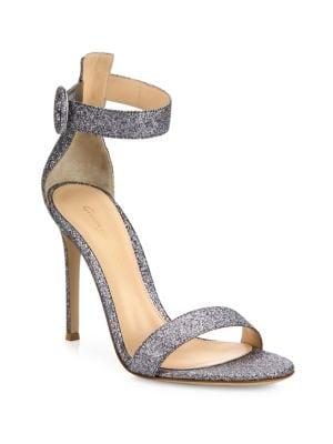 Portofino Glitter Ankle-Strap Sandals