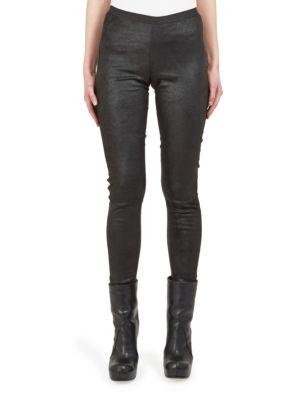 Stretch Leather Leggings