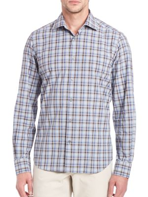 COLLECTION Plaid Long Sleeve Shirt