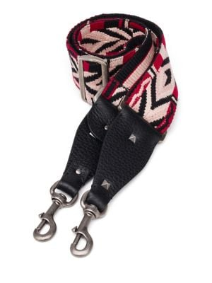 Multicolor Cotton & Leather Guitar Handbag Strap
