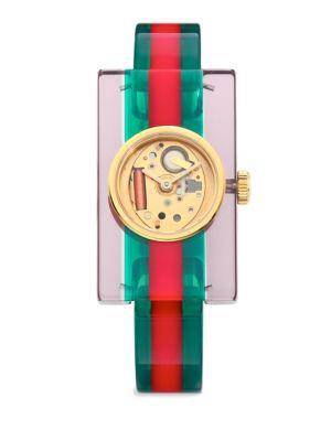 Transparent Plexiglas Bangle Watch