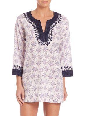 Casa Kurta Hand-Block Printed Tunic plus size,  plus size fashion plus size appare
