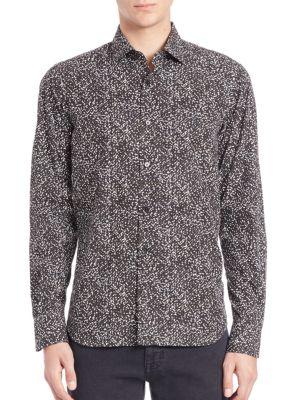 COLLECTION Paint Splatter Pattern Shirt