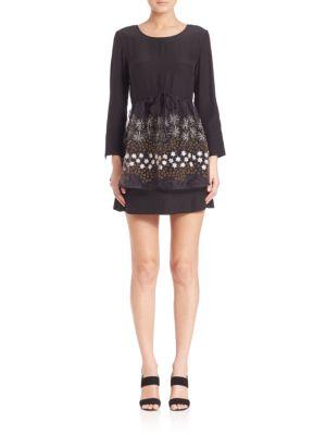 Organza Overlay Mini Dress