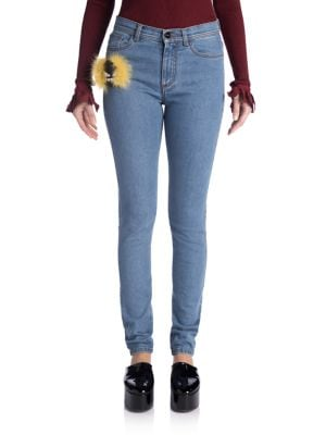 Fur Monster Skinny Jeans